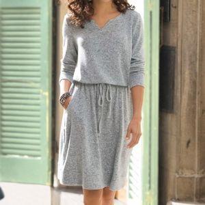 Soft Surroundings Gray Easy Living Comfort Dress M
